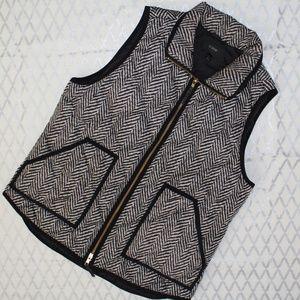 J Crew Black Criss Cross Design Vest Medium EUC
